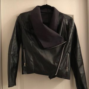 Jackets & Coats - Vintage Faux Black Leather Jacket |Size 2-4|